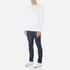 Lacoste Men's Long Sleeved Crew Neck T-Shirt - White: Image 4