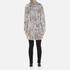 Karl Lagerfeld Women's Soft Curly Faux Fur Coat - Grey: Image 3