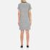 Karl Lagerfeld Women's Bonded Tweed Jersey Dress - Grey Melange: Image 3