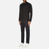 Michael Kors Men's Long Sleeve Sleek MK Polo Top - Black: Image 4