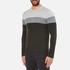 Michael Kors Men's Wool Blend Crew Neck Jumper - Heather Grey: Image 2