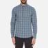 Michael Kors Men's Slim Fit Romeo Long Sleeve Shirt - Pine: Image 1