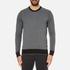 Michael Kors Men's Cotton Jacquard Crew Neck Jumper - Black: Image 1