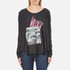 Wildfox Women's Wildfox Ca Perry Thermal Long Sleeve Top - Clean Black: Image 1