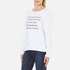 Wildfox Women's Day Off List Baggy Beach Sweatshirt - Cleanwhite: Image 2