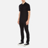 Versace Collection Men's Shoulder Detail Polo Shirt - Nero: Image 4
