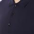 Versace Collection Men's Collar Detail Polo Shirt - Navy: Image 5