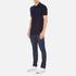 Versace Collection Men's Collar Detail Polo Shirt - Navy: Image 4