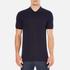 Versace Collection Men's Collar Detail Polo Shirt - Navy: Image 1