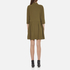 Ganni Women's Clark Dress - Dark Olive: Image 3