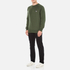 Maison Kitsuné Men's Tricolor Patch Sweatshirt - Khaki: Image 4