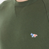 Maison Kitsuné Men's Tricolor Patch Sweatshirt - Khaki: Image 5
