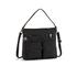 Kipling Women's Tasmo Double Pocket Medium Shoulder Bag - Dazzling Black: Image 1