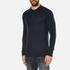 Superdry Men's Orange Label Knitted Polo Jumper - Eclipse Navy/Black Twist: Image 2