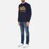 Superdry Men's Classics True Indigo Crew Sweatshirt - Classic Indigo: Image 4