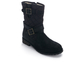 Barbour Women's Barbour Belham Waxy Suede Quilted Biker Boots - Black: Image 2