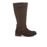 Barbour Women's Holford Waxy Suede Quilted Knee Boots - Brown: Image 1