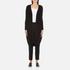 Paisie Women's Ribbed Knee Length Cardigan - Black: Image 1