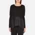 Paisie Women's Knitted Jumper with Silk Panel - Black: Image 1