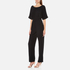 Paisie Women's Half Sleeve Jumpsuit with Low V Back - Black: Image 2