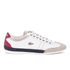 Lacoste Men's Misano 15 LCR SRM Trainers - Off White/Blue/Red: Image 1