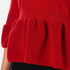 Boutique Moschino Women's Peplum Flared Sleeve Jumper - Red: Image 6