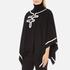 Boutique Moschino Women's Contrast Detail Cape Jumper - Black: Image 2