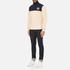 Billionaire Boys Club Men's Half-Zip Funnel Sweatshirt - Beige/Navy: Image 4