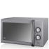 Swan SM22070GRN 25L Retro Manual Microwave - Grey: Image 1
