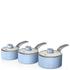 Swan Retro Saucepan Set - Sky Blue (3 Piece): Image 1