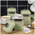 Swan Retro Canisters - Green (Set of 3): Image 2