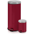 Swan Round Pedal Bins - Red (30L/5L): Image 1