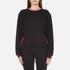 McQ Alexander McQueen Women's Cropped Sweatshirt - Darkest Black: Image 1