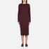 McQ Alexander McQueen Women's Side Slit Sweater Dress - Port: Image 1