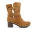 UGG Women's Brea Clog Suede Buckle Boots - Chestnut: Image 1
