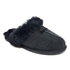 UGG Women's Scuffette II Serein Shimmer Suede Slippers - Black: Image 2
