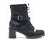 UGG Women's Ingrid Leather Sheepskin Lace Up Heeled Boots - Black: Image 1