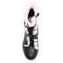 UGG Women's Ingrid Leather Sheepskin Lace Up Heeled Boots - Black: Image 3