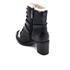 UGG Women's Ingrid Leather Sheepskin Lace Up Heeled Boots - Black: Image 4
