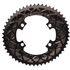 AbsoluteBLACK 110BCD 4 Bolt Spider Mount Aero Oval Chain Ring (Premium): Image 1