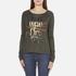 Superdry Women's Slubby Graphic Knitted Jumper - Khaki Twist: Image 1