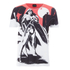 DC Comics Men's Batman V Superman Wonder Woman Scene T-Shirt - White: Image 1
