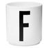 Design Letters Porcelain Cup - F: Image 1