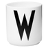 Design Letters Porcelain Cup - W: Image 1