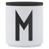 Design Letters Wooden Lid For Porcelain Cup - Black: Image 1