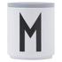 Design Letters Wooden Lid For Porcelain Cup - Grey: Image 1