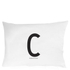 Design Letters Pillowcase - 70x50 cm - C: Image 1