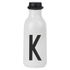 Design Letters Water Bottle - K: Image 1