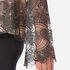 Perseverance Women's Embroidered Paisley Top Bell Sleeves and High Neck Collar - Black/Nude: Image 6