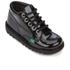 Kickers Kids' Kick Hi Patent Boots - Black: Image 2